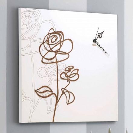 Ora e Murit prej druri të Sheshit të Bardhë me Dekoratë Moderne Rozë - Dëborë