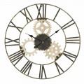 Diametri i orës së rrumbullakët të murit 70 cm Dizajn modern në hekur dhe MDF - Jutta