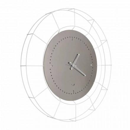 Ora moderne e pasqyrave të murit në çelik të bardhë të bërë në Itali - Adalgiso