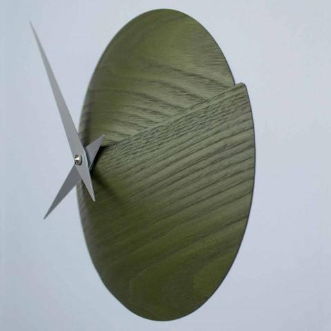 Projektuesi i Orës së Murit 19,5 Ø cmin Natyrore prej druri Made in Italy - Crater