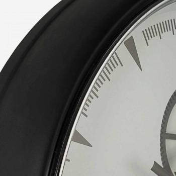 Diametri i orës së murit 50 cm në lëvizje çeliku dhe qelqi - Severio