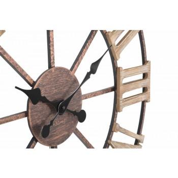 Diametri modern i orës së murit 71.5 cm në hekur dhe MDF - karcana