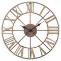 Diametri modern i orës së murit 71.5 cm në hekur dhe MDF - Karcan