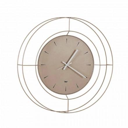 Ora moderne e murit në çelik me ngjyrë të bërë në Itali - Adalgiso