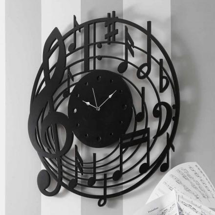 Rrethi i Dizajnit Modern të Orës së Zezë në Dru të dekoruar - Muzikë