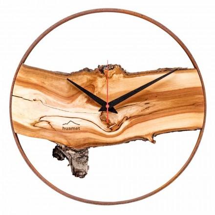 Ora e Rrumbullakët e Murit në Solid Apple Wood të prodhuar në Itali - Sirmione