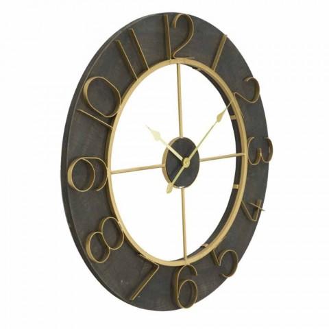 Diametri i rrumbullakët i murit të rrumbullakët 70 cm Dizajn modern në hekur dhe MDF - Tonia