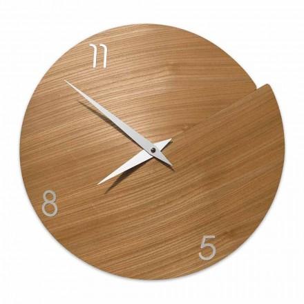 Ora moderne e orës e punuar me dorë në dru natyral - Crater