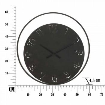 Diametri i Orës së rrumbullakët të diamantit 60 cm moderne në hekur - Beatrix