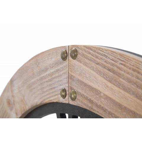 Diametri i rrumbullakët i murit të rrumbullakët 80 cm të Dizajnit në Hekur dhe MDF - Silva