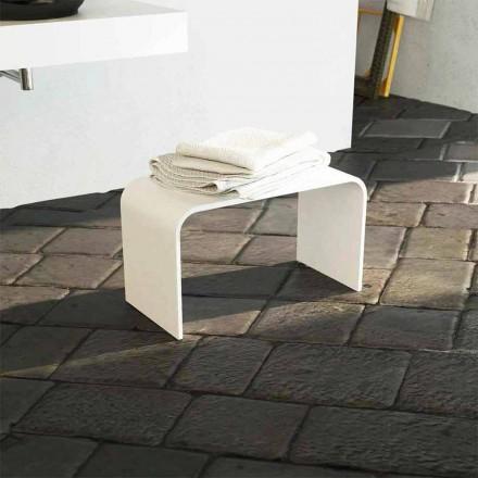 Pamja e gjatë e banjës me dizajn modern prodhuar 100% në Itali Recanati