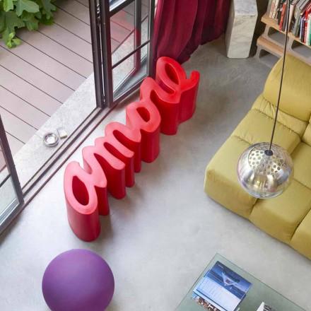 Dizenjoni stol me ngjyra të jashtme / të brendshme Slide Amore, prodhuar në Itali