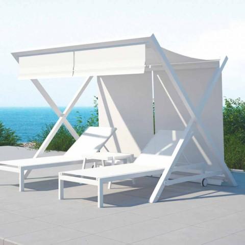 Alumini i Dizajnit në natyrë dhe Textilene Sunshade - Danub