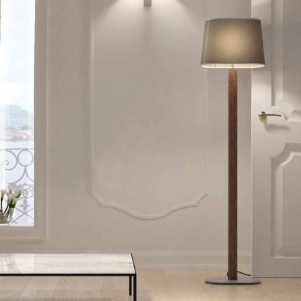 Llambë dyshemeje me dizajn modern në llambë me abazhur pëlhure prodhuar në Itali - Kërce