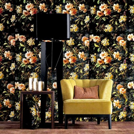 Llambë dyshemeje prej druri dhe pëlhure Grilli Zarafa e bërë në Itali