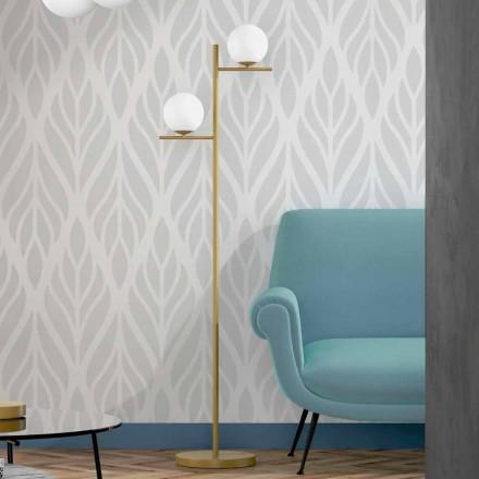 Llambë moderne për dysheme në fund të bronzit metalik dhe xham opal të prodhuar në Itali - Carima