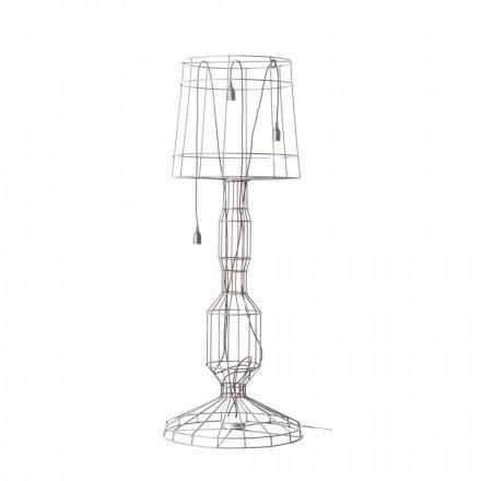 Llamba e dyshemesë së dhomës së ndenjes 3 drita në stilin minimal të bardhë ose natyror - Stili