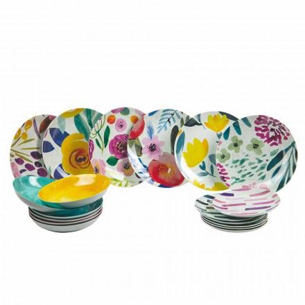 Pllaka për tryezë me ngjyra në gresi dhe porcelani 18 copë - Tintarello