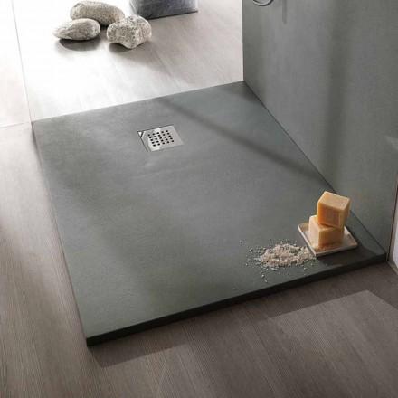 Tabaka dushi 120x90 Dizajn modern në përfundimin e efektit të betonit rrëshirë - Cupio