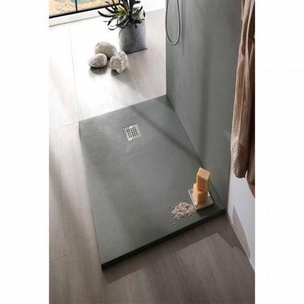 Tabaka dushi 170x80 Dizajn modern në rrëshirë me efekt betoni - Cupio