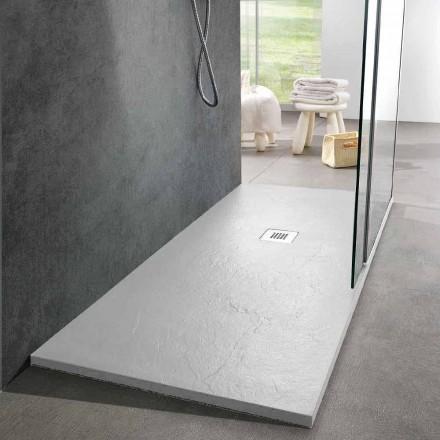 Sirtar dushi me dizajn modern 160x80 në përfundimin e efektit të pllakës së rrëshirës - Sommo