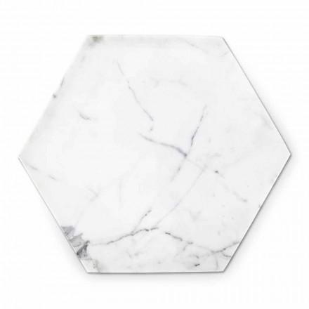 Pllaka gjashtëkëndore e projektimit në mermer të bardhë Carrara e bërë në Itali - Sintia
