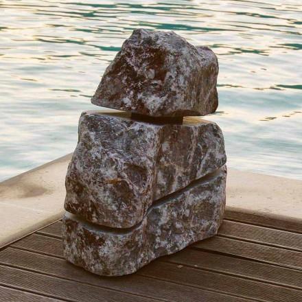 Guri i ndritshëm në mermer Fior di Pesco Carnico me Led Cross, copë unike