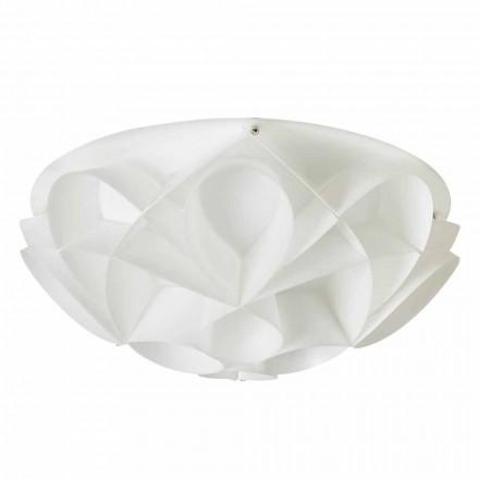 2-dritë moderne tavan dritë Lena, përfundojë e bardhë perla, diam 43 cm.