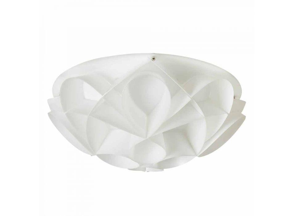 Llambë tavani 2 drita dizajn i bardhë moderne perla, diam.43cm, Lena