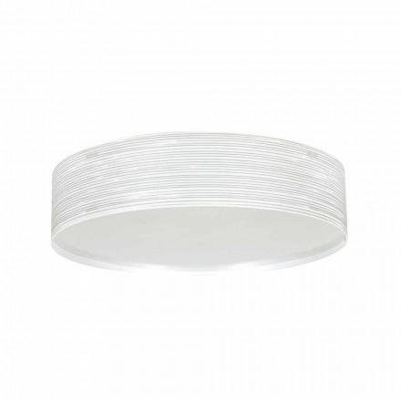 Dritë moderne 2-dritë tavan Debby, e bërë nga polipropileni, diam 45 cm.