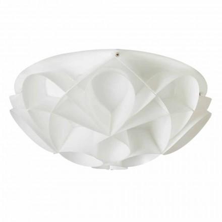 Dritë tavani me 3 drita Lena, dizajn modern, e bardhë perla, diamante 51 cm.