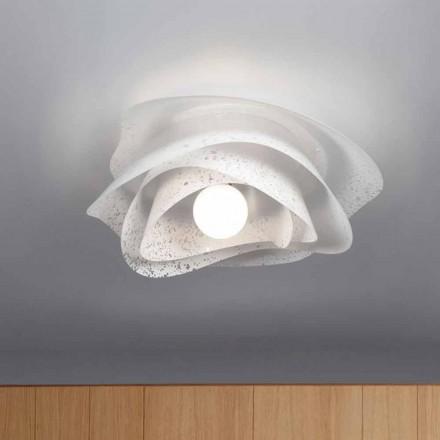 Llamba e tavanit të dizajnit modern Adalia e bardhë, e bërë në Itali 55 cm