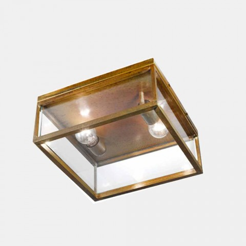 2-Llambë tavani në natyrë të hapur në tunxh dhe xham të cilësisë së mirë - Kornizë nga Il Fanale