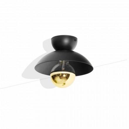 Llambë tavani me dizajn metalik me detaj të përfunduar prej ari prodhuar në Itali - Valta