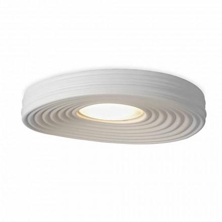Llambë tavani e dhomës së ndenjes me dizajn modern në suva të bardhë Matt - jamball