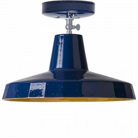 Dritë tavani në maiolica toskan dhe bronzi, 30 cm, Rossi - Toscot