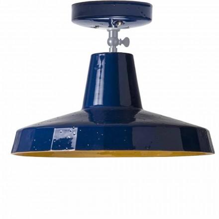 Dritë tavani në bronz dhe maiolica toskan, 42 cm, Rossi - Toscot