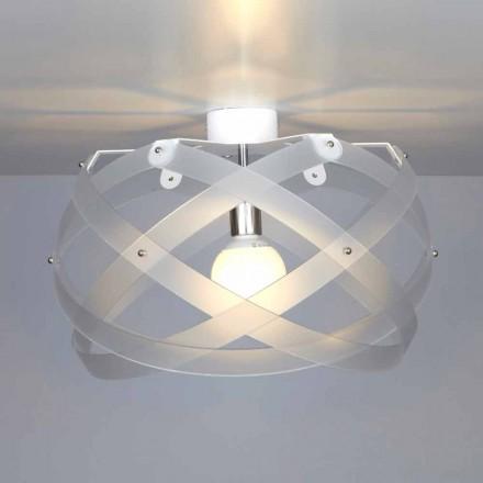 Llamba e tavanit të dizajnit modern Vanna, e bërë nga metakrilati, diam 40 cm