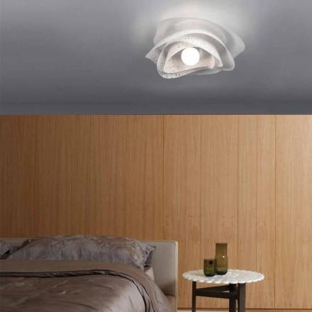 Llamba e tavanit të dizajnit modern Adalia e bardhë, e bërë në Itali 40 cm