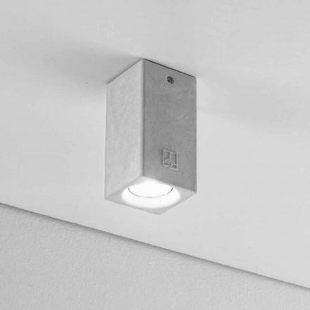 Dizajner dritë tavani në formë katrore Nadir 5 nga Aldo Bernardi