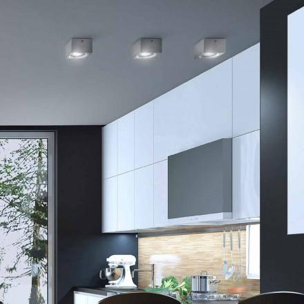 Dritë tavani moderne me formë katrore Nadir nga Aldo Bernardi