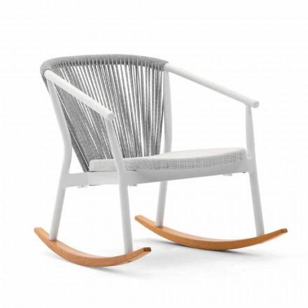Karrige lëkundëse në natyrë në dru dhe pëlhura të ngurta - Smart nga Varaschin