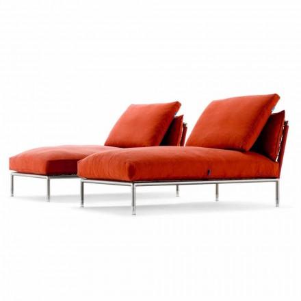 Kolltuk kolltuku Longue i Dizajnit Modern për Kopsht Made në Itali - Ontario1