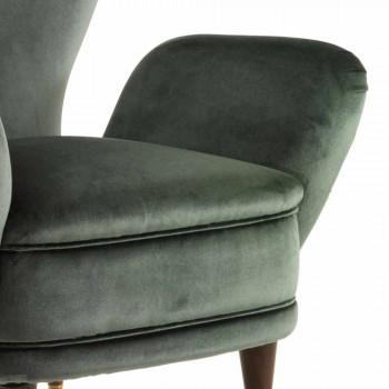 Karrige klasike karrige me tapiceri, L78xP75cm, Benny