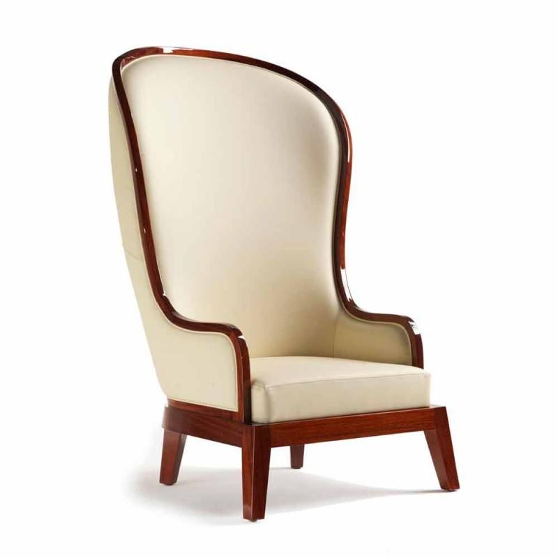Karrige me sallon lëkure dekorimi me lazer, e bërë në Itali, Eli