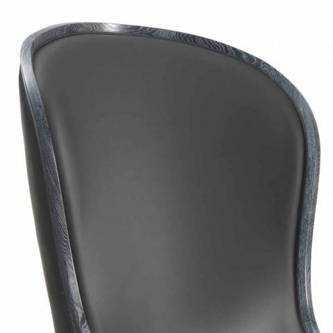 Kolltuk lëkure Eli dhe lesh i zi, dizajn klasik luksoz