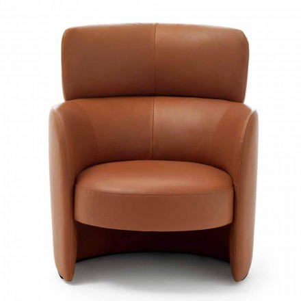 Kolltuk i dhomës së ndenjes veshur me susta në lëkurë me cilësi të lartë prodhuar në Itali - Mango