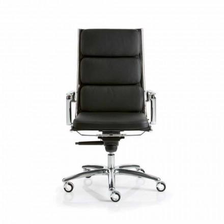 Karrige zyre lëkure Dritë nga Luxy, dizajn modern