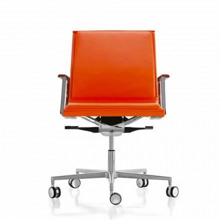 Lëkurë / Pëlhurë karrige zyre ekzekutive Nulite nga Luxy, dizajn modern