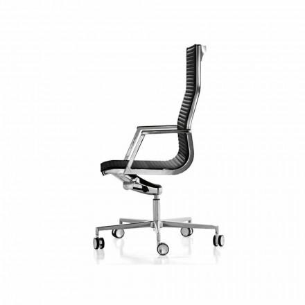 Pëlhurë / karrige zyre ekzekutive lëkure Nulite nga Luxy, dizajn modern